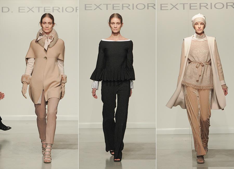 Maglieria - modelle indossano creazioni D.Exterior