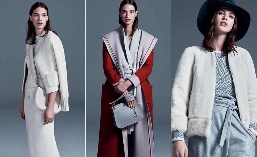 Maglieria - modelle indossano creazioni Loro Piana