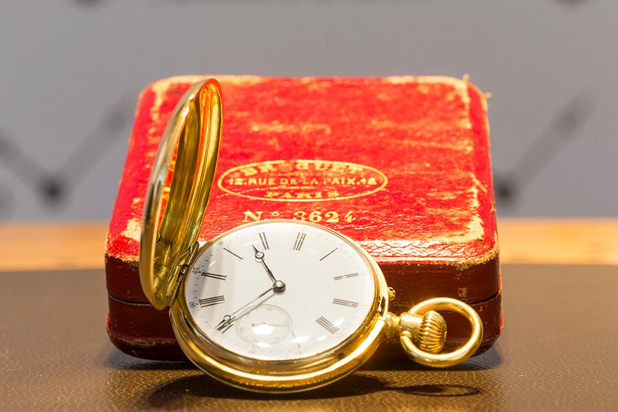 Lo splendido esemplare di orolologio da taschino realizzato dalla Maiso Breguet e venduto al Marchese Malaspina
