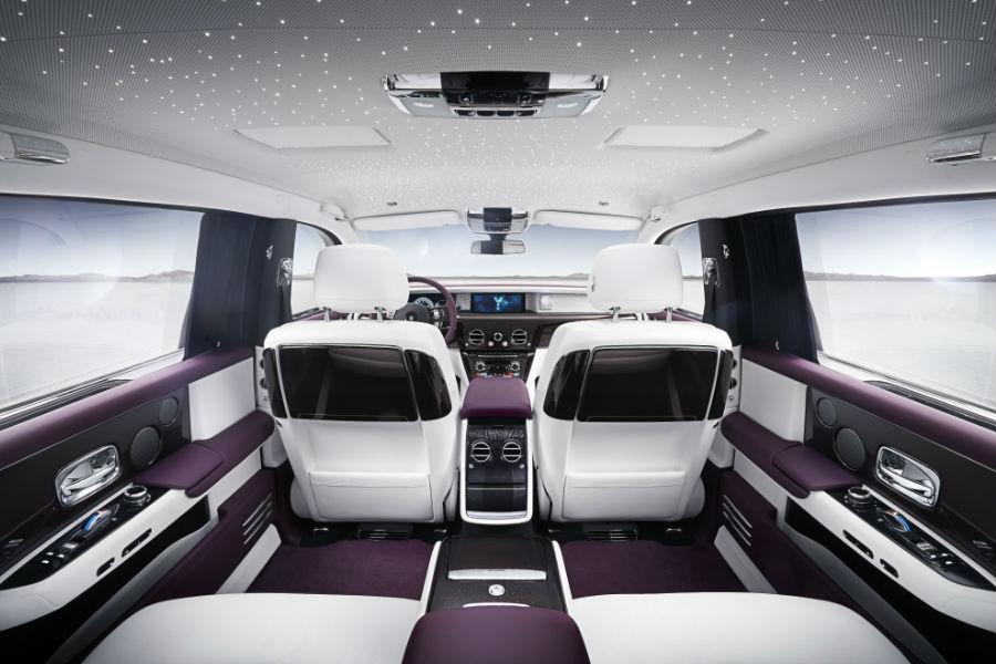 Rolls-Royce Phantom Veduta interna dell'abitacolo