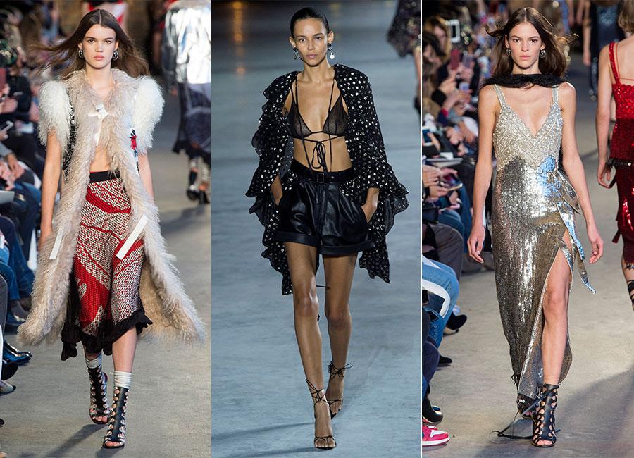 Seduzione: modelle sfilano indossando creazioni Altuzarra SS2018