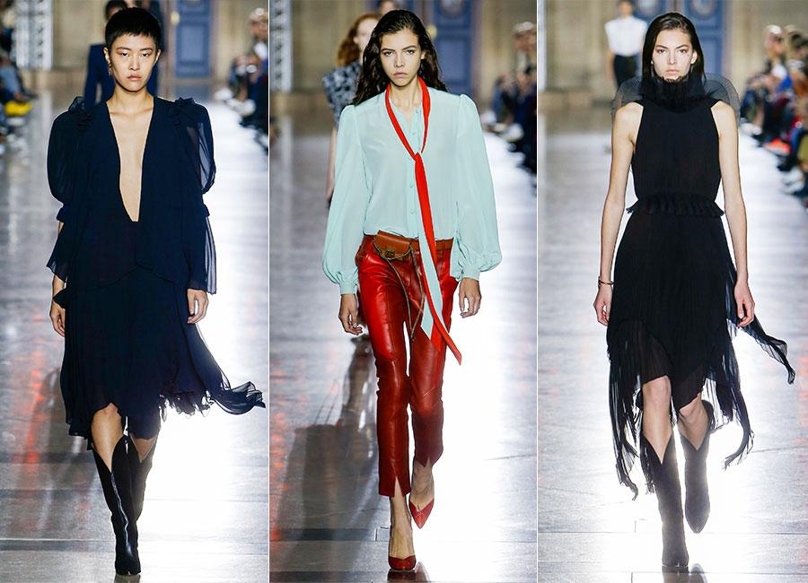 Seduzione: modelle sfilano indossando creazioni Givenchy SS2018