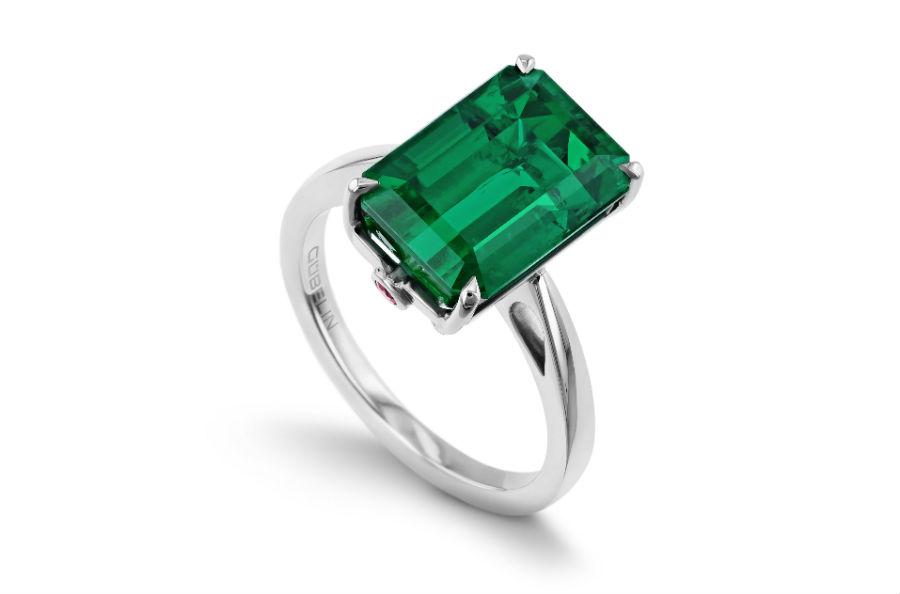 Smeraldi: Gübelin Ancient Path Platino - Anello con smeraldo Gübelin Jewellery