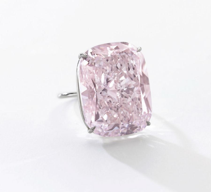 Diamante montato su anello, Lotto 361 – The Raj Pink