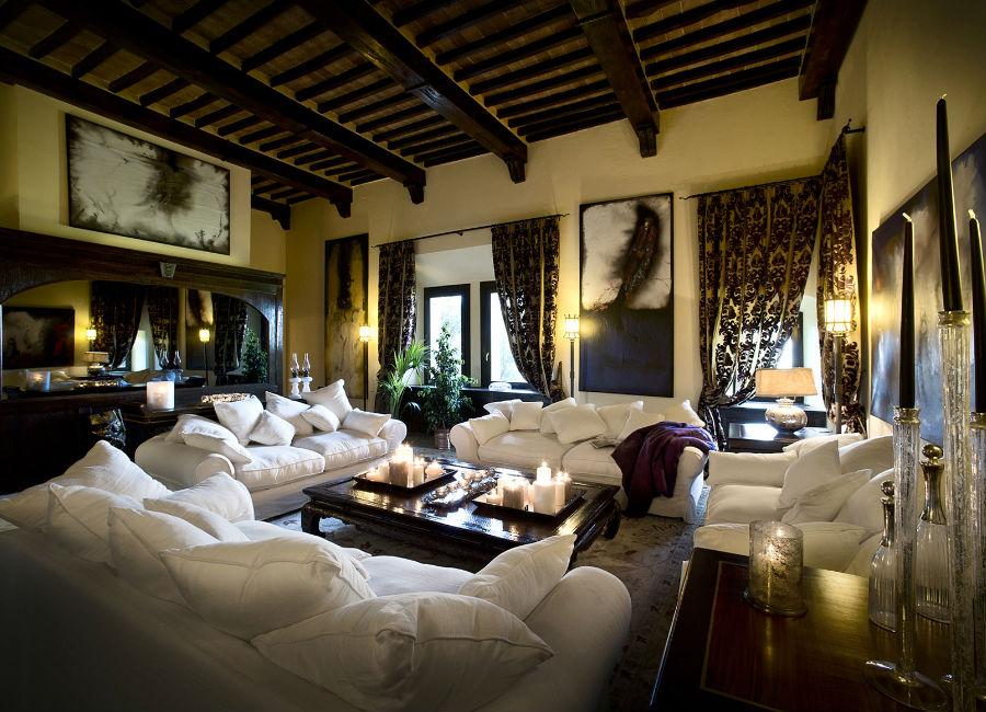 Castel Porrona Relais & Spa - Castle - Living room