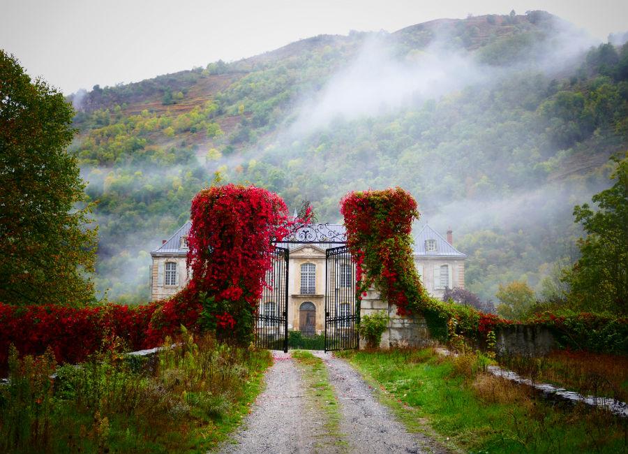 Château de Gudanes - Veduta del castello in primavera