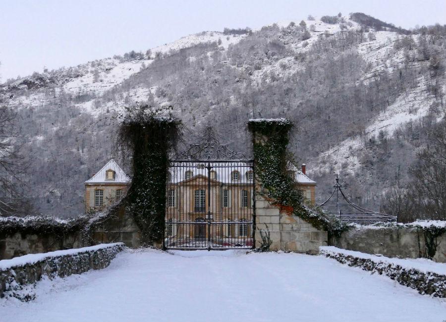 Château de Gudanes - Veduta del castello in inverno