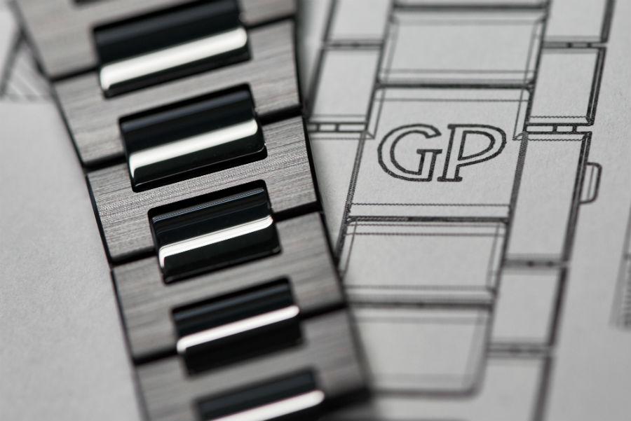 Laureato 42mm Black Ceramic - dettaglio bracciale