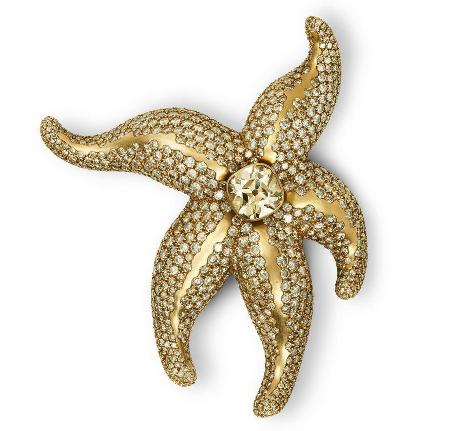 Hemmerle – Spilla in oro giallo e diamanti
