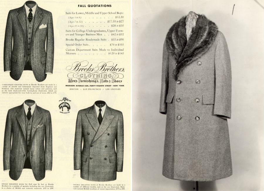 Catalogo ed immagine del prodotto finito di Brooks Brothers