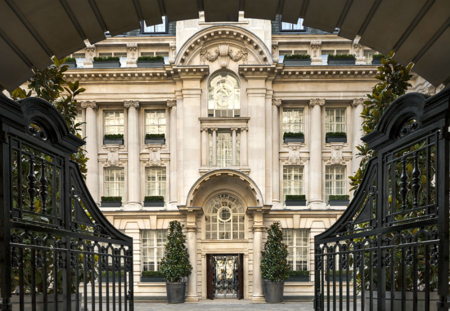 Rosewood London Entrance Wrought Iron Gates