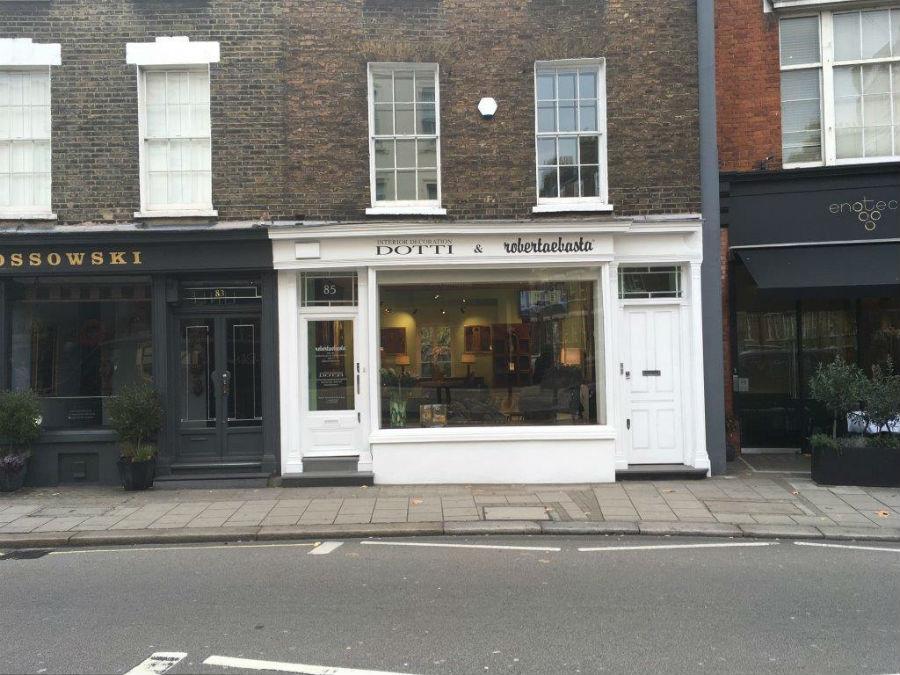 La nuova sede londinese di Robertaebasta, al 85 di Pimlico Road.