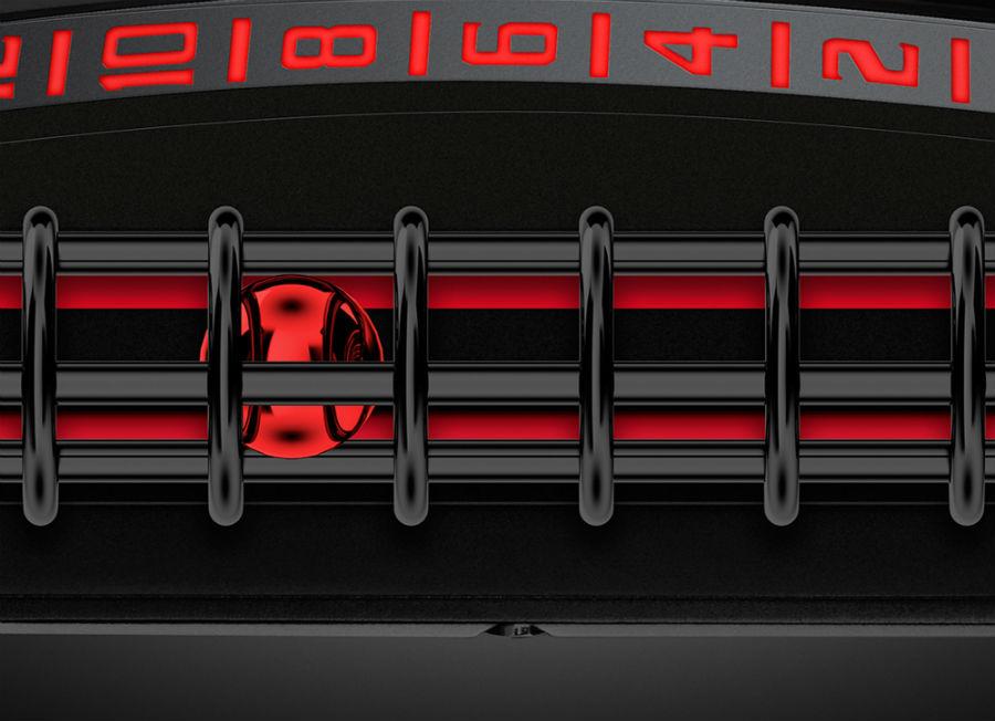 Christophe Claret – X-Trem-1 StingHD – un dettaglio del singolare sistema di raffigurazione dell'ora.