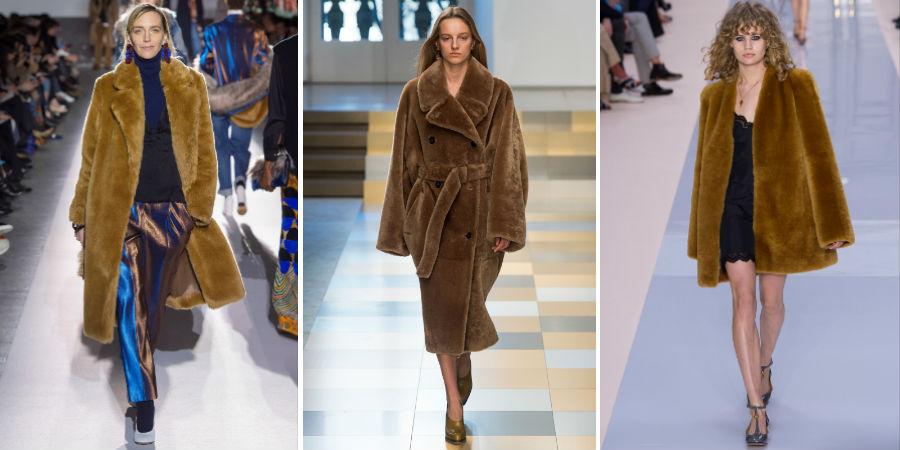 Eco pelliccia: 3 modelli di Dries Van Noten, Jil Sander, Chloe F/W 2017-2018