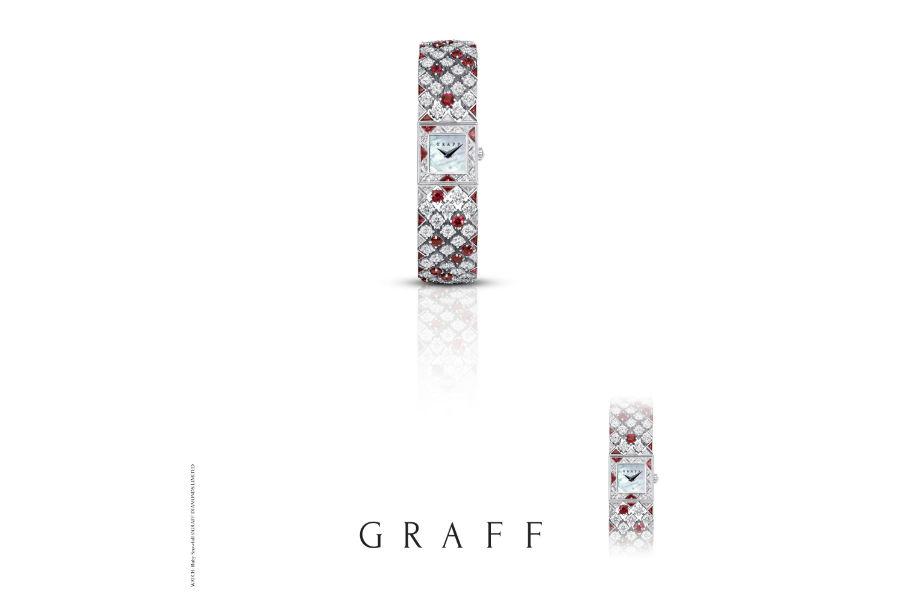 Graff – Snowfall - orologio con diamanti (14.58 cts) e rubini (9.34 cts)
