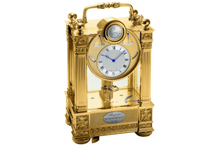 Manifattura Breguet - Pendola simpatica con orologio annesso.