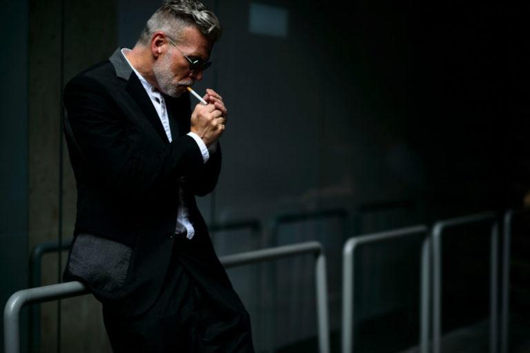 Nick Wooster in smoking