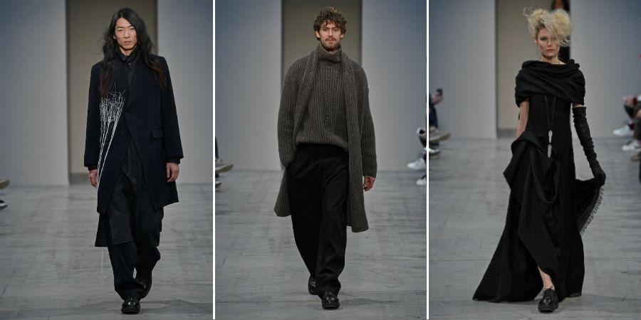 Isabel Benenato: 2 completi della collezione maschile d uno per la collezione femminile, F/W 2018_2019