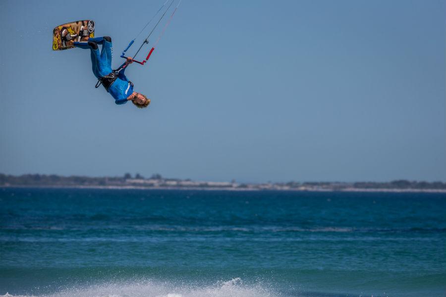 Immagine di kitesurfer Jerry Van De Kop per RRD – Roberto Ricci Design