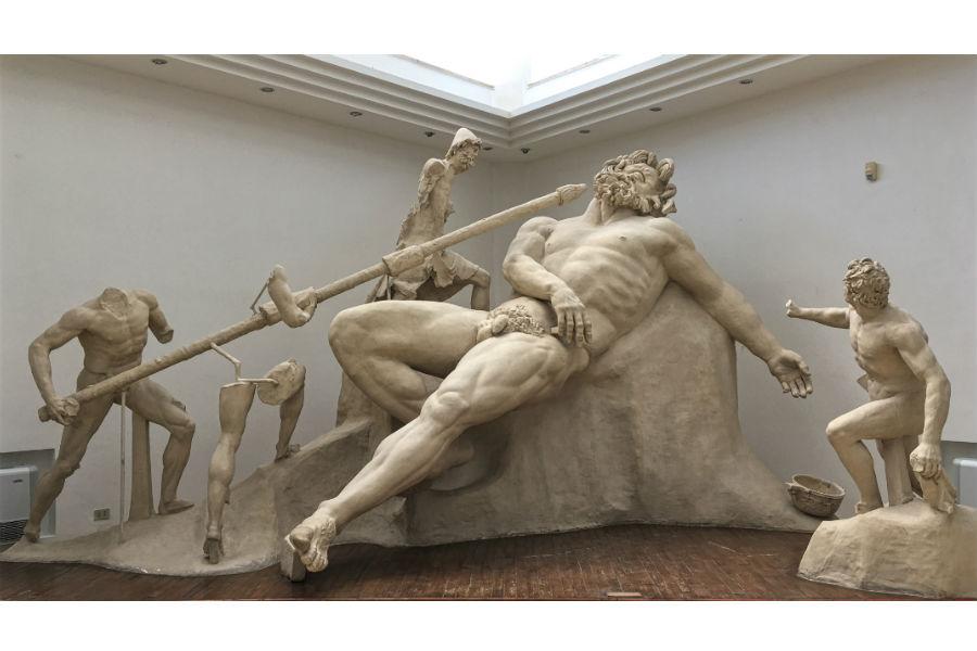 Viaggio in Italia nelle terre di Ulisse - Ricostruzione dell'accecamento di Polifemo