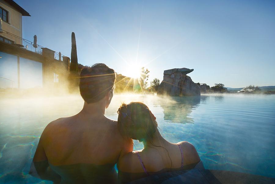 Adler Thermae Spa & Relax Resort : particolari delle piscine termali all'aperto