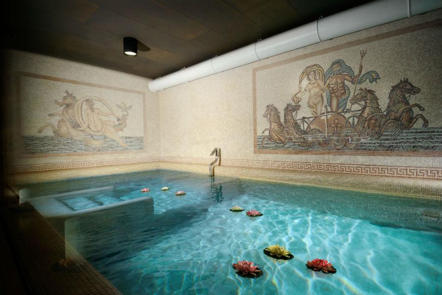 CastelBrando - luxury hotel in dimora storica nel Veneto: zona piscina nella spa
