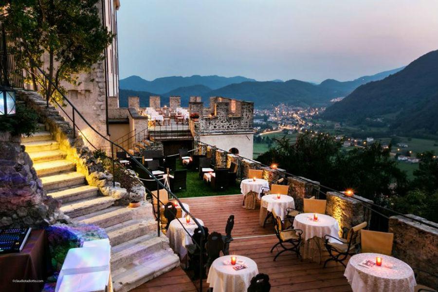 CastelBrando - luxury hotel in dimora storica nel Veneto: terrazza ristorante