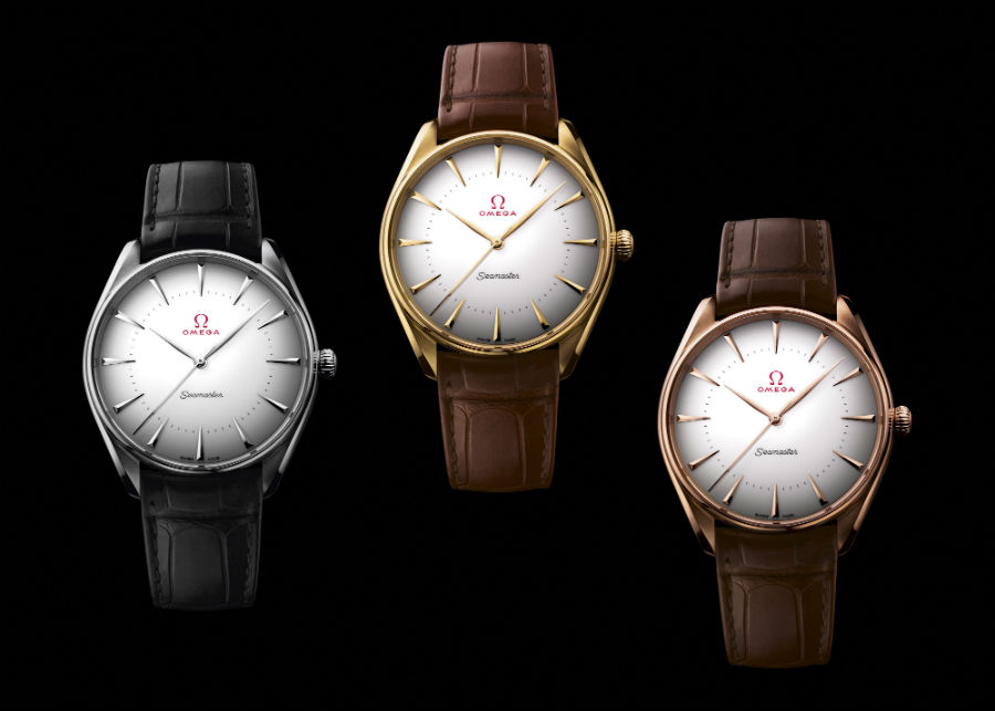 3 referenze con cassa in oro della Collezione Seamaster Olympic Games Gold Collection - Omega