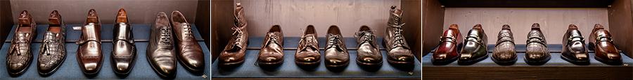 Tagliatore - Pino Lerario: nelle 3 immagini si vede una linea di calzature