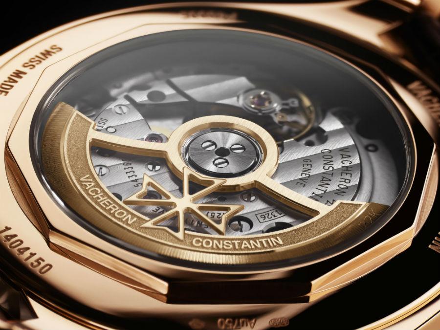 Alta Orologeria Vacheron Constantin - SIHH 2018: Dettaglio della massa oscillante in oro nel modello FiftySix Ref. 4600E/000R-B441, orologio meccanico a carica automatica