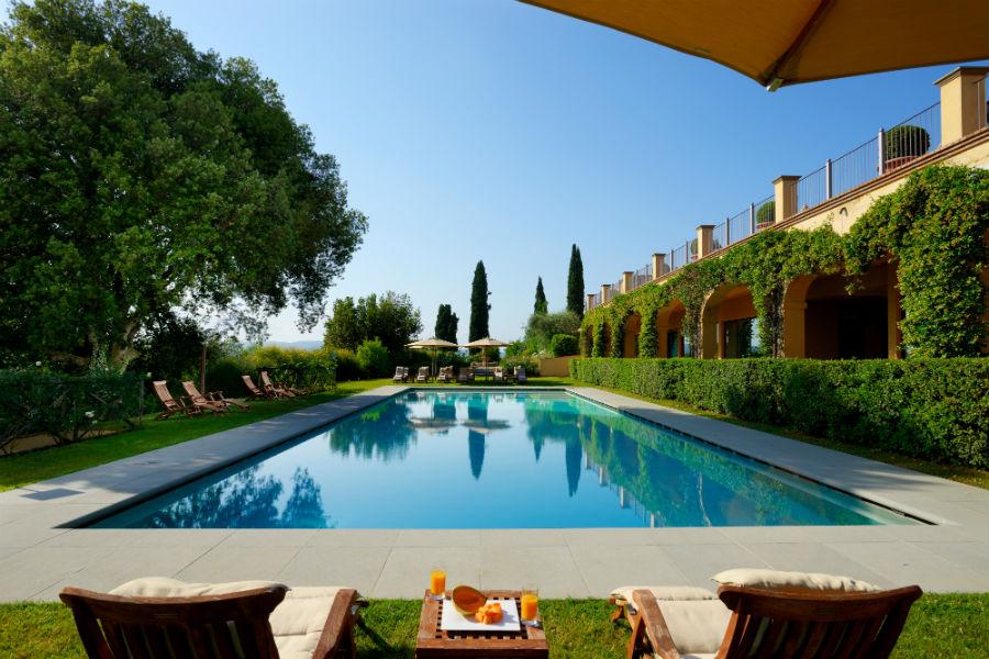 Il Castello del Nero & Spa in Tavernelle Val di Pesa presso Firenze: piscina esterna