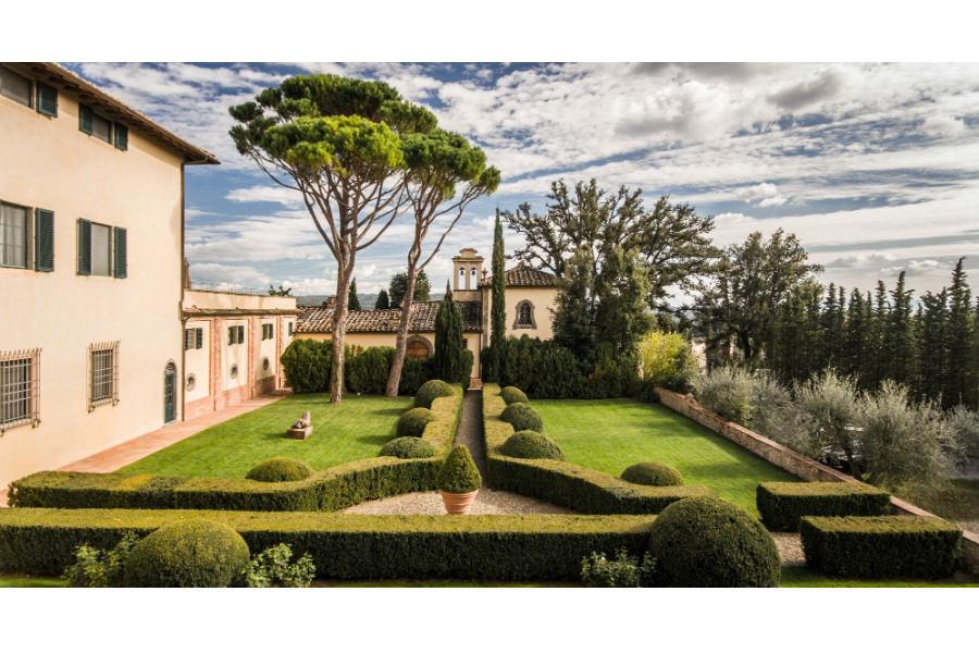 Il Castello del Nero & Spa in Tavernelle Val di Pesa presso Firenze: giardino