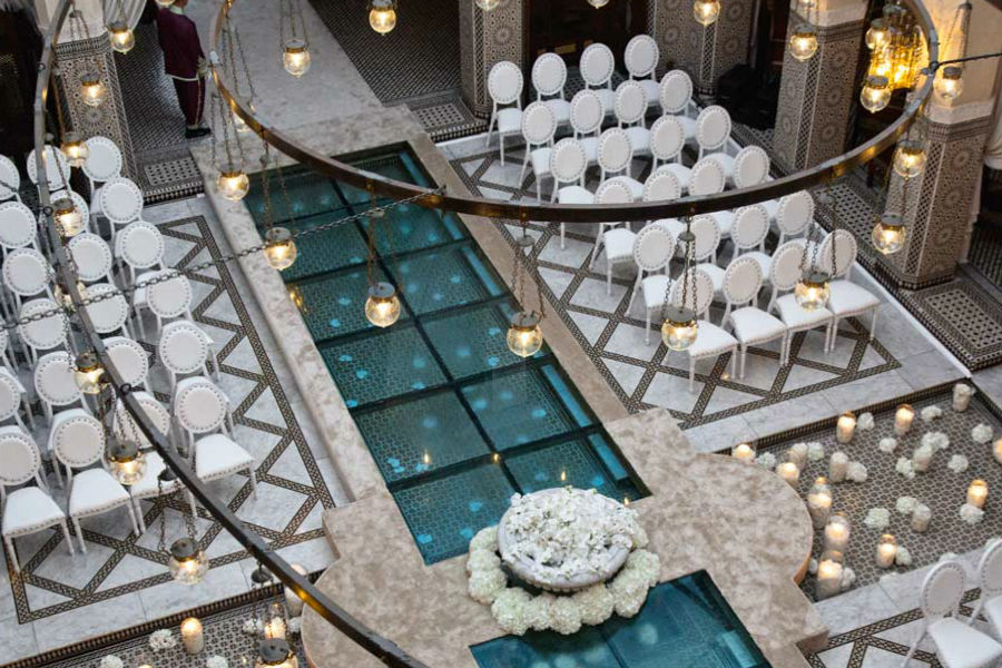 Royal Mansour – exclusive resort - Marrakech: area eventi allestita per matrimonio