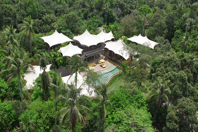 Thailandia: ville con piscina riprese dall'alto