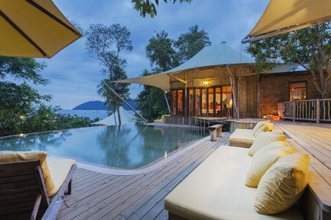 Soneva Kiri - luxury resort in Thailandia: piscina privata
