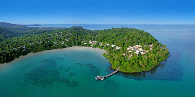 Soneva Kiri - luxury resort in Thailandia: vista dall'alto dell'isola