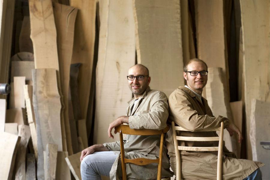 F.lli Levaggi - sedie originali di Chiavari: Paolo e Gabriele Levaggi, i due fratelli soci titolari dell'impresa.