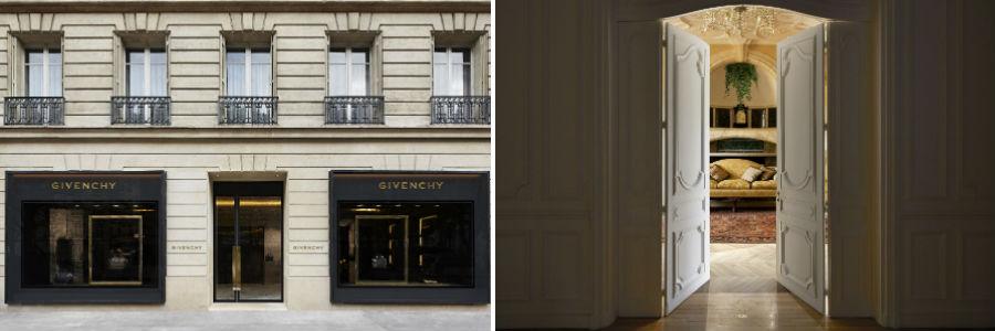 Negozi Givenchy a Parigi e a Milano