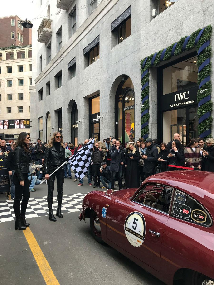 IWC Schaffhausen, 22 marzo 2018, coppa Milano Sanremo: le auto in attesa di partire