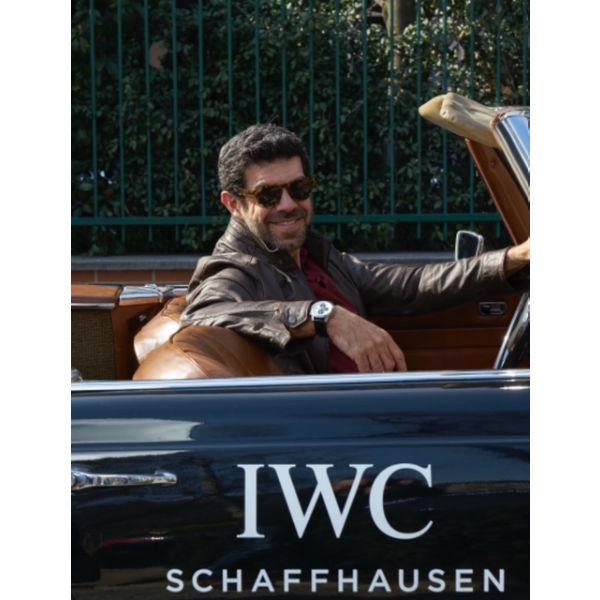 IWC Schaffhausen, 22 marzo 2018, coppa Milano Sanremo: Pierfrancesco Favino, al volante di una Mercedes SL 250 del'67.