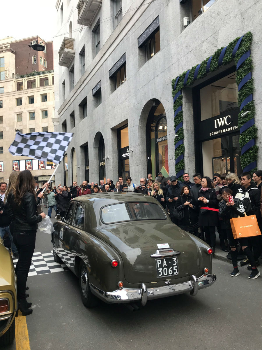 IWC Schaffhausen, 22 marzo 2018, coppa Milano Sanremo: le auto in partenza
