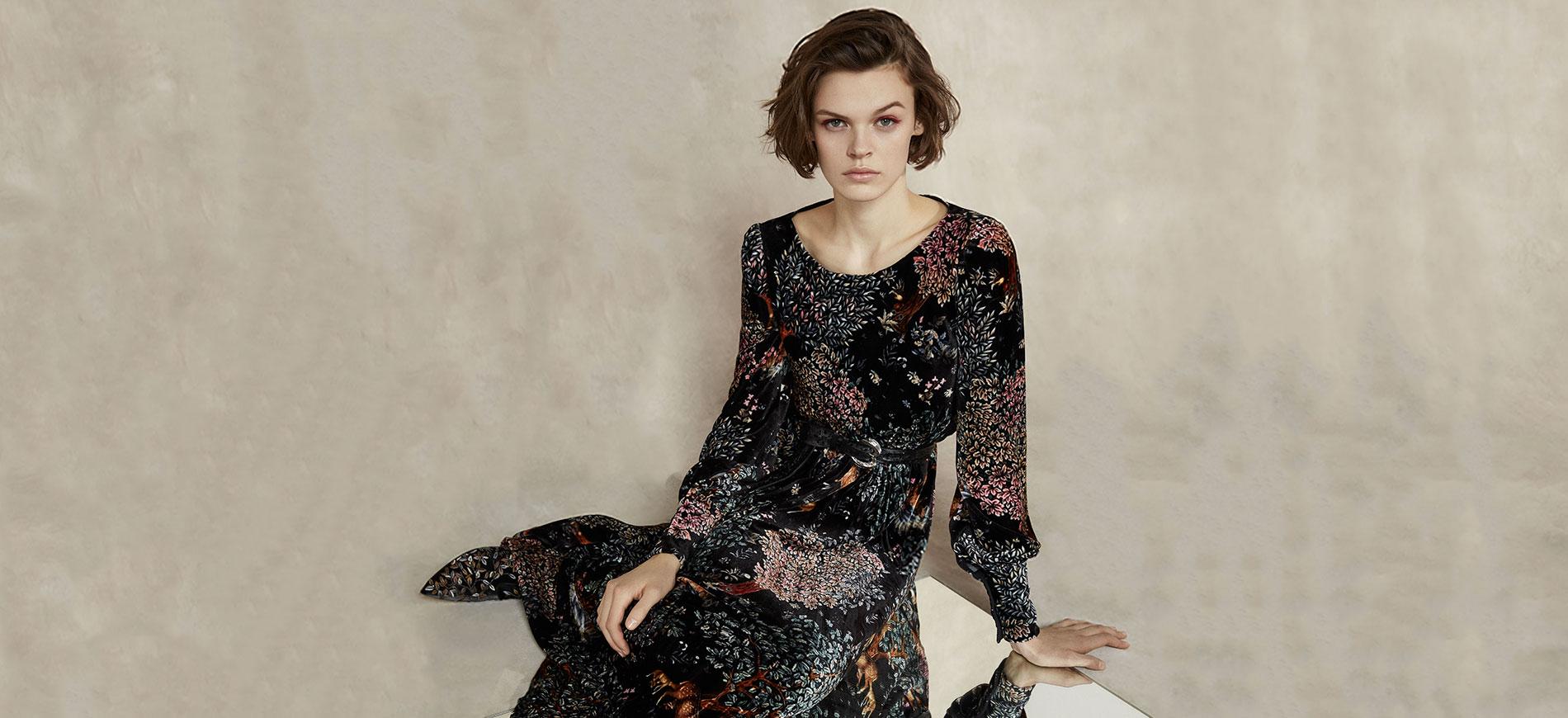 Pre-Fall 2018 - modella con abito a fiori