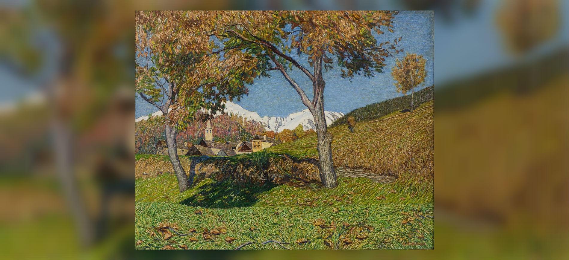 Armonie verdi. Paesaggi dalla Scapigliatura al Novecento: Carlo Fornara, I due noci, 1920, olio su tela