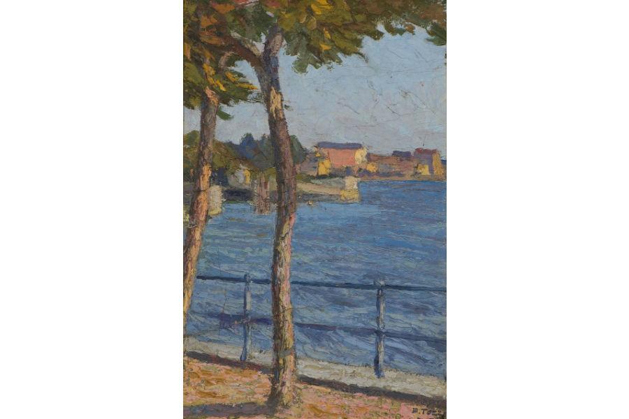 Armonie verdi. Paesaggi dalla Scapigliatura al Novecento: Mario Tozzi, La passeggiata, 1915, olio su tela