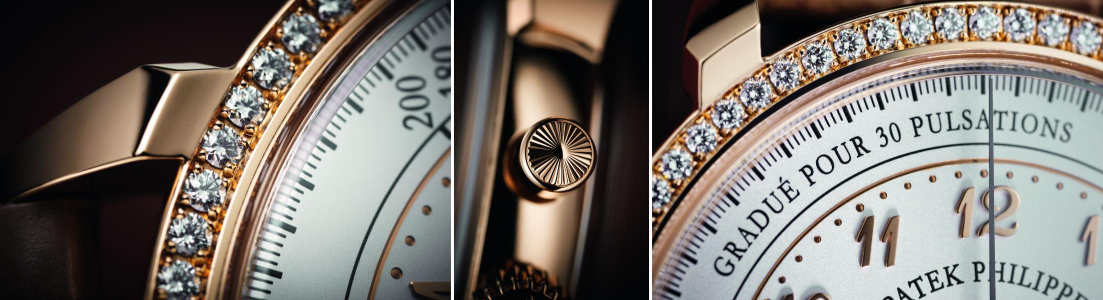 Alcuni dettagli della nuova veste del Patek Philippe Ladies Chronograph - Ref. 7150/250R-001.