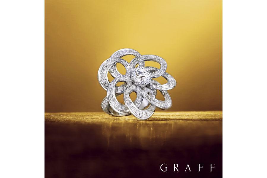 Baselworld 2018 - Graff Diamonds – Art Inspired Collection – Anello con diamanti taglio baguette e brillanti per un totale di 7.75 cts.