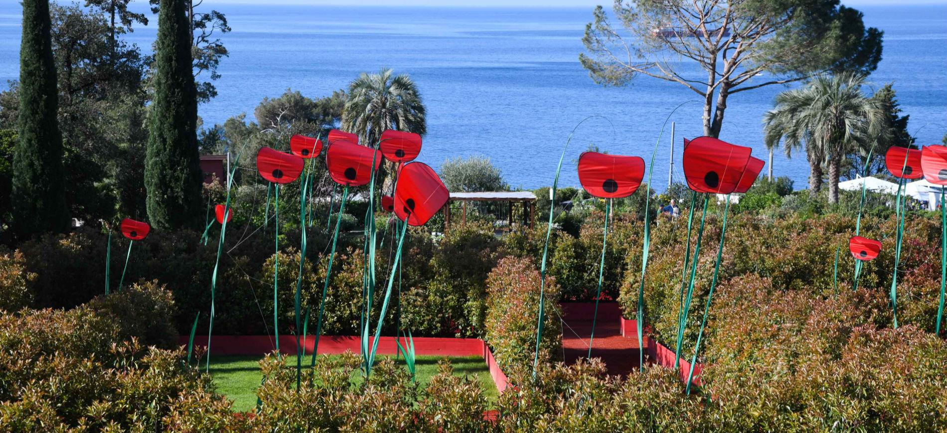 Euroflora 2018 - Genova, Parchi di Nervi: opere realizzate con fiori