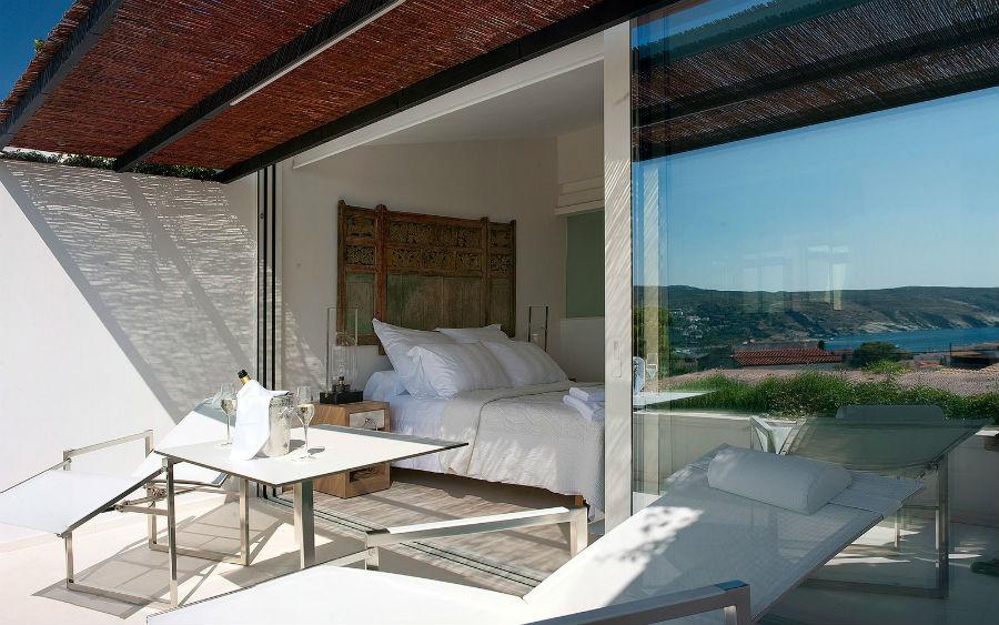 L'Hotel Calma Blanca, Cadaqués - Spagna: camera con piscina sul terrazzo