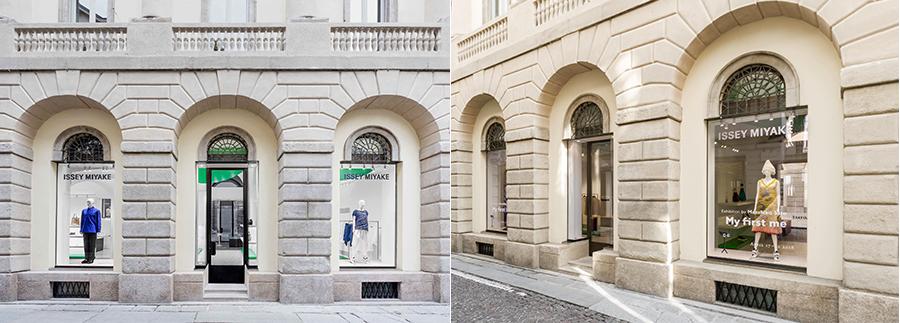 Vetrine di Issey Miyake - Milano