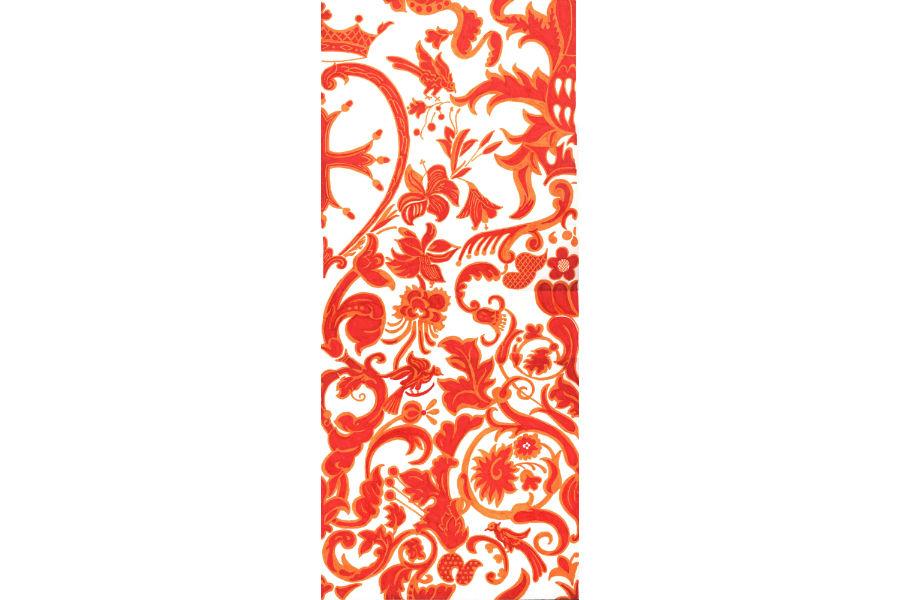 Tessitura Luigi Bevilacqua - Emanuele Bevilacqua - velluto soprarizzo Venezia - motivo floreale in una creazione in velluto